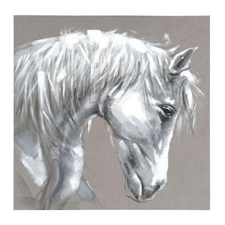 White stallion canvas art kirklands