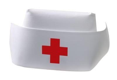 How To Make A Nurse S Hat Nurse Crafts Nurse Hat Nurse Party