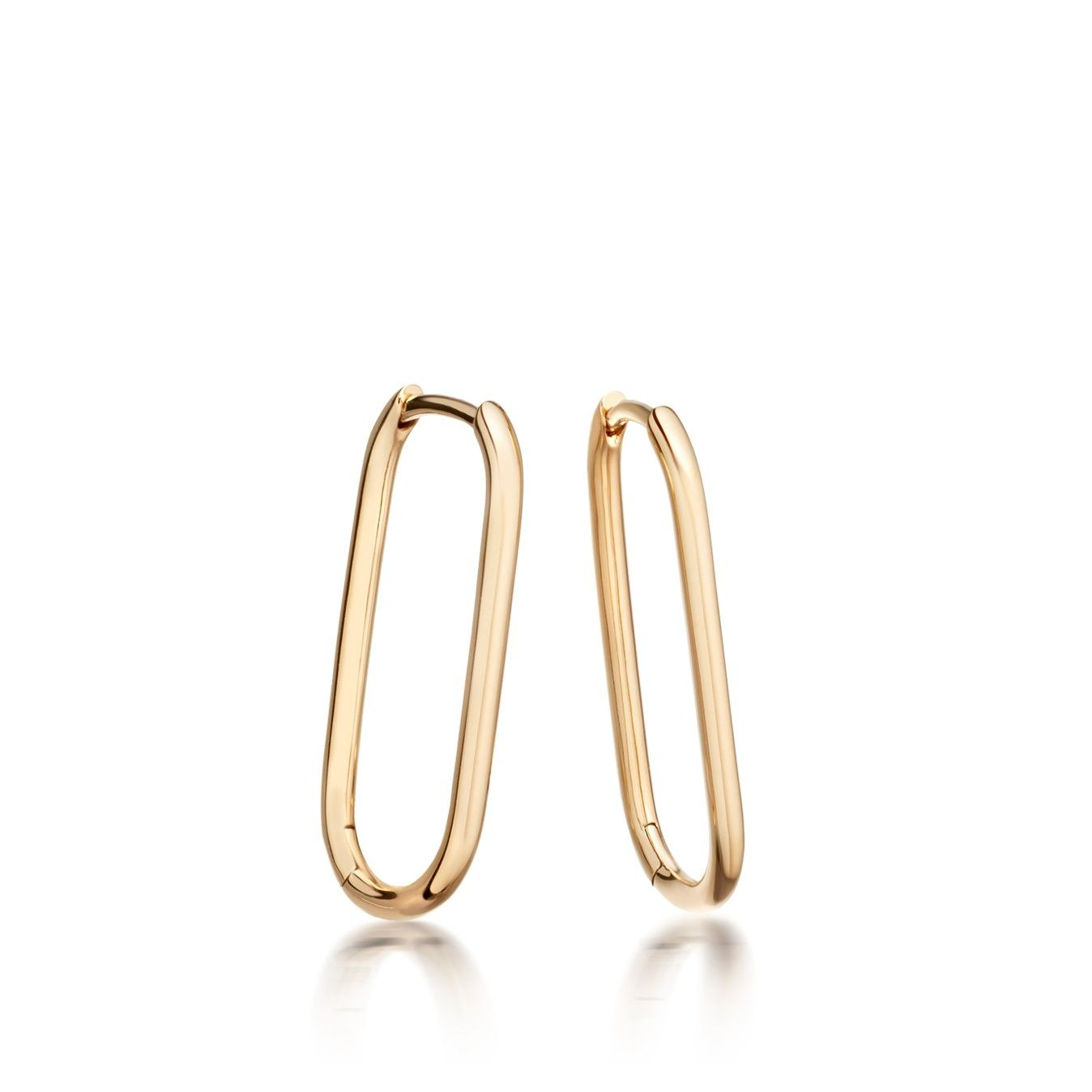 Yellow Gold Vermeil Piet Oval Hoop Earrings