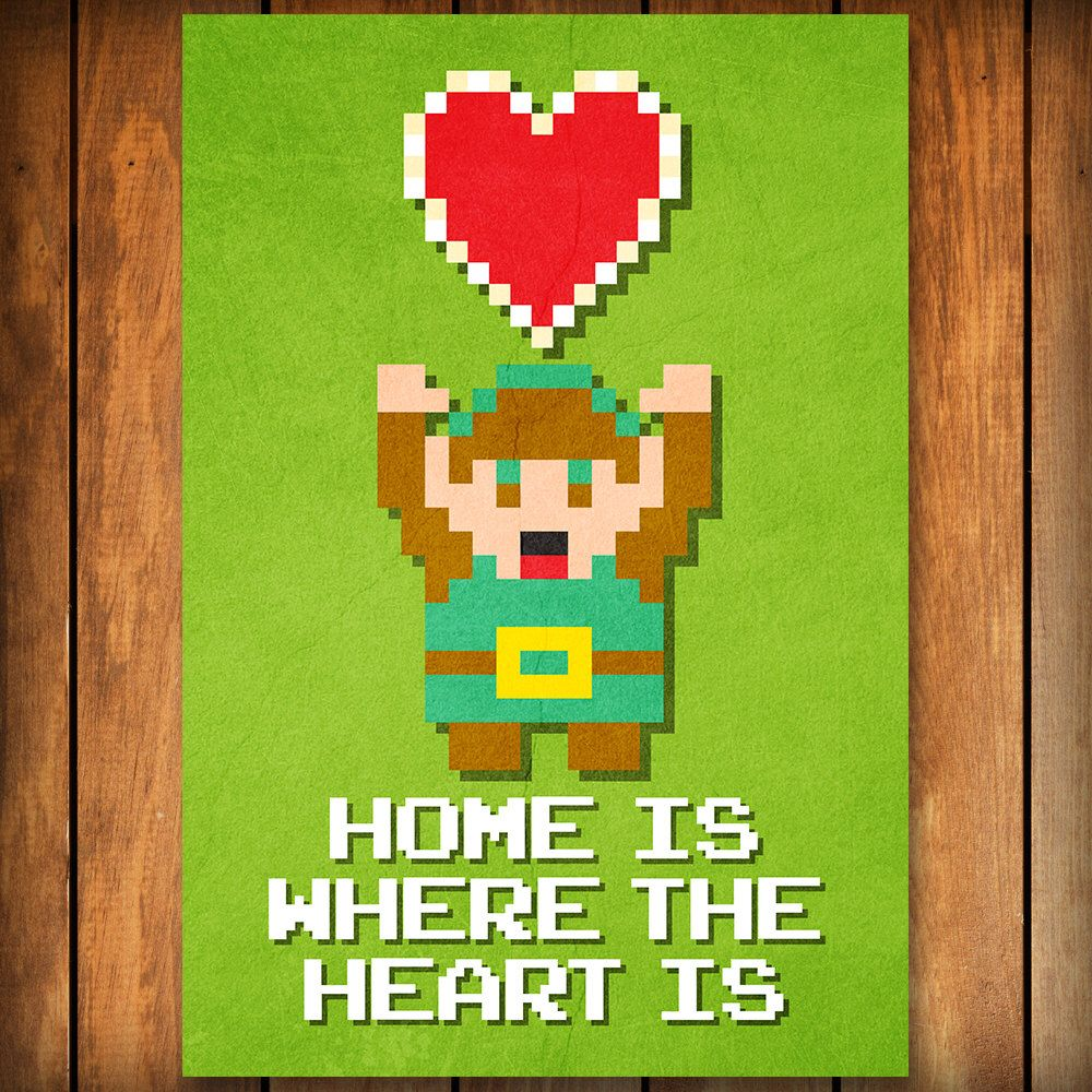 Home is where the heart is legend of zelda poster print by