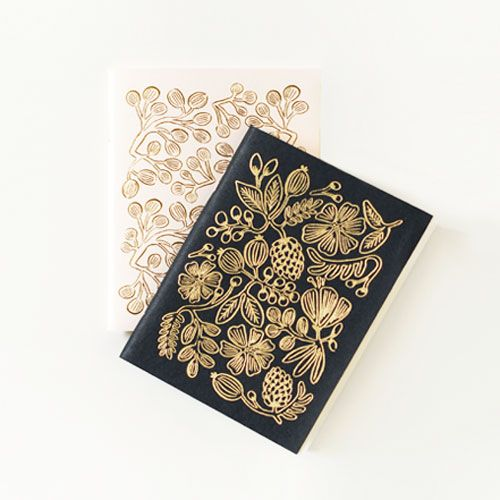 Love these little notebooks! Perfect stocking stuffers. :: Gold Floral Pocket Notebooks