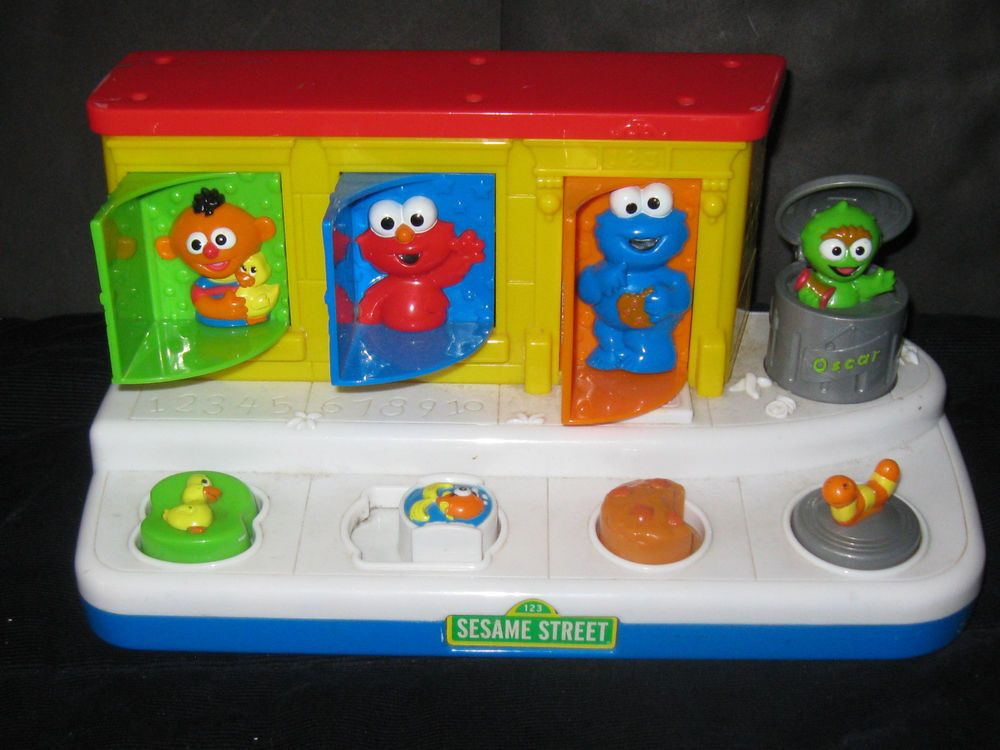 Sesame Street Toys For Toddlers : Fisher price sesame street pop up baby toy with sound