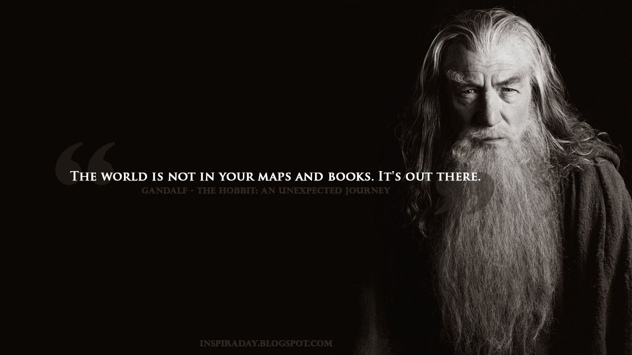 Inspiraday Quote About World From The Hobbit An Unexpected Journey