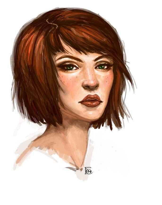 Red hair portraits (female) - Minus