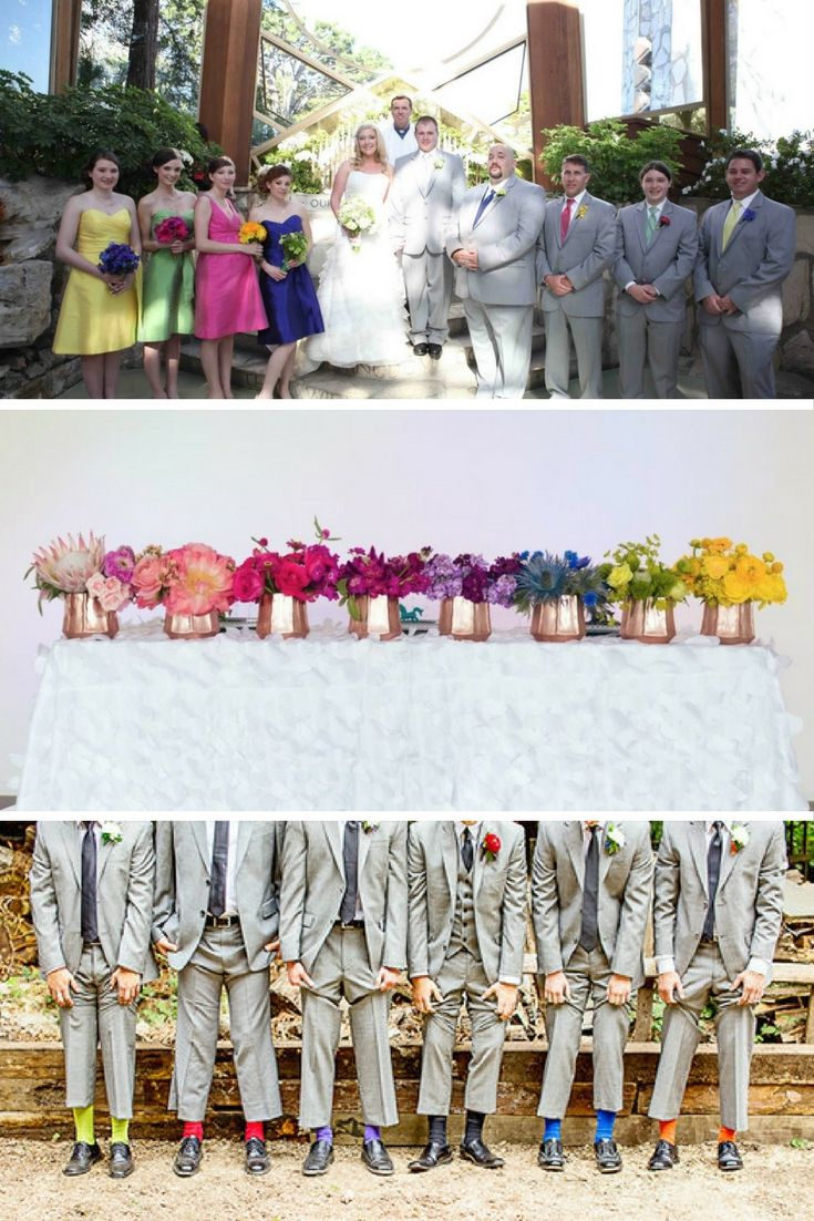 A Rainbow Wedding Theme These Photographs Will Make You Love The Idea Rainbow Wedding Theme Rainbow Wedding Wedding Colors