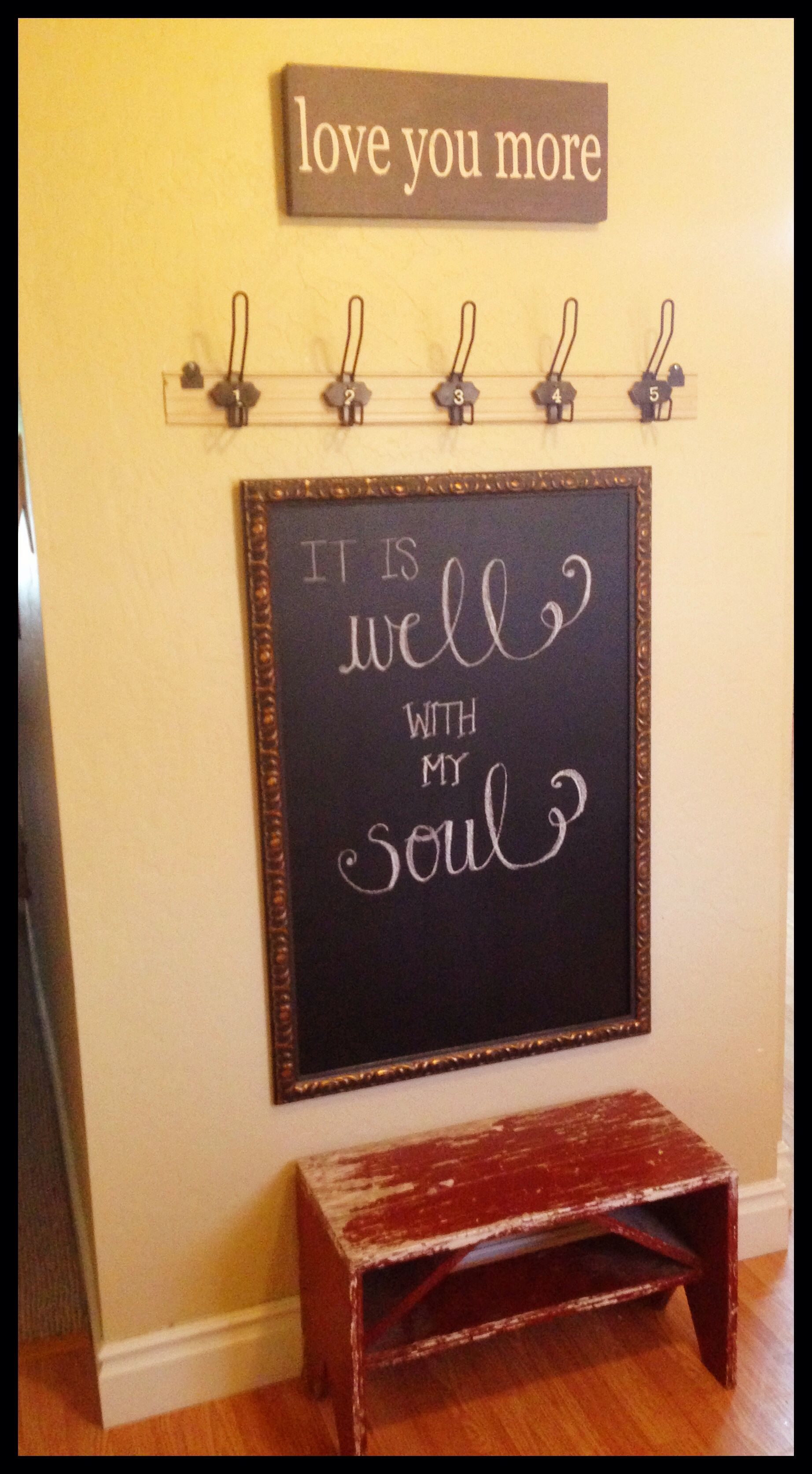Mudroom entrance. Took an outdated picture/frame. With a \