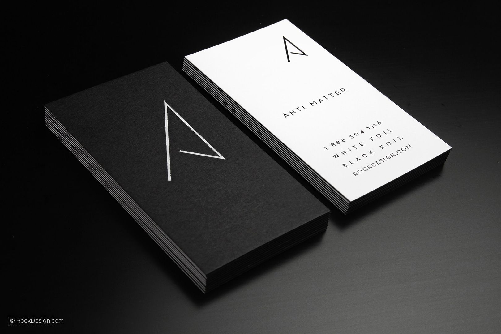 minimalist modern black and white business card anti matter rockdesign luxury business card printing - Minimalist Business Card