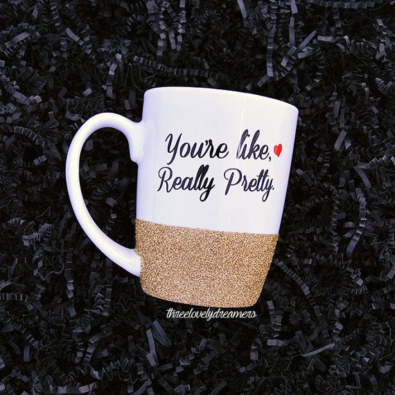 Personalized Coffee Cup Glitter Dipped Mug You Re