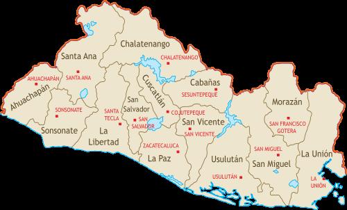 Organizacion Territorial De El Salvador Wikipedia La Enciclopedia Libre Map Templates El Salvador