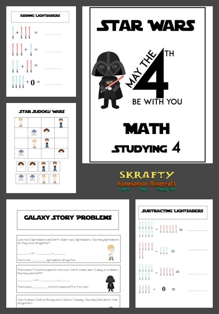 Free Star Wars Math Printables Math Printables Math Worksheets Star Wars Classroom