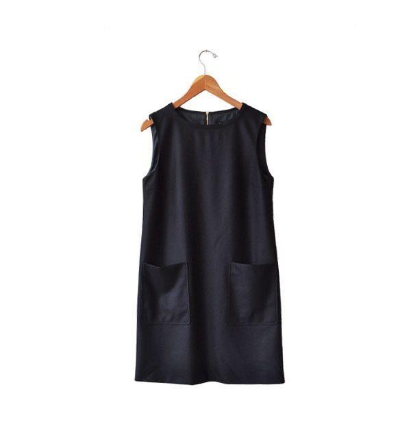 A.P.C. Dark Navy Emma Dress