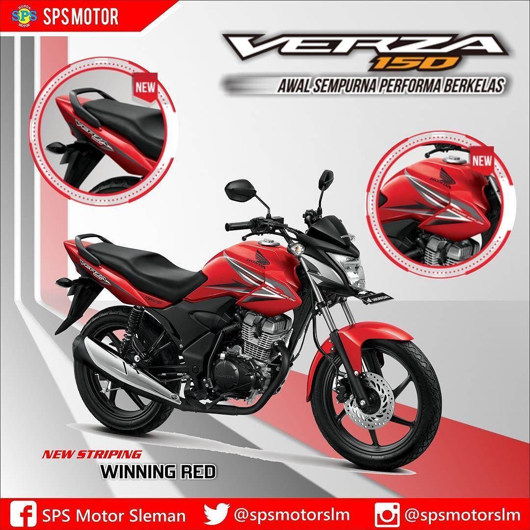 Honda Verza 150 Winning Red Dgn Desain Striping Baru Warna Shround New Beat Street Esp Black Cilacap Serasi Bodi