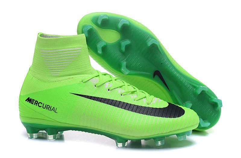 purchase cheap 5f161 cff9e Cheap Nike Mercurial Superfly V FG Football Total Grass Green Black ...