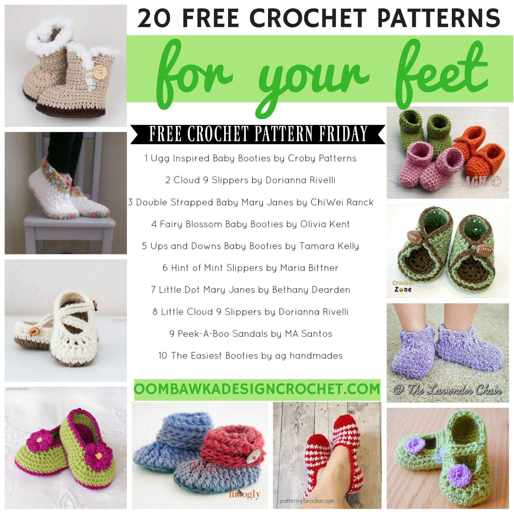 20 FREE Crochet Patterns for Your Feet | patrones gratis | Pinterest ...
