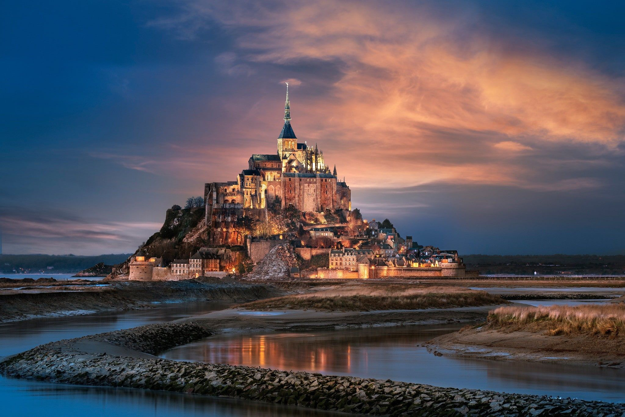 France Normandy France Normandy The City The Island Fortress Mont Saint Michel Mount Michael Th In 2020 Best Vacation Destinations Beautiful Castles Normandy France