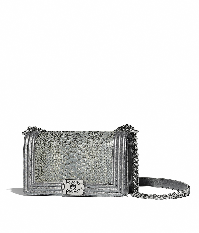 414832bfc5ec Python, Calfskin & Gold-Tone Metal Red Small BOY CHANEL Handbag | CHANEL  #Chanelhandbags