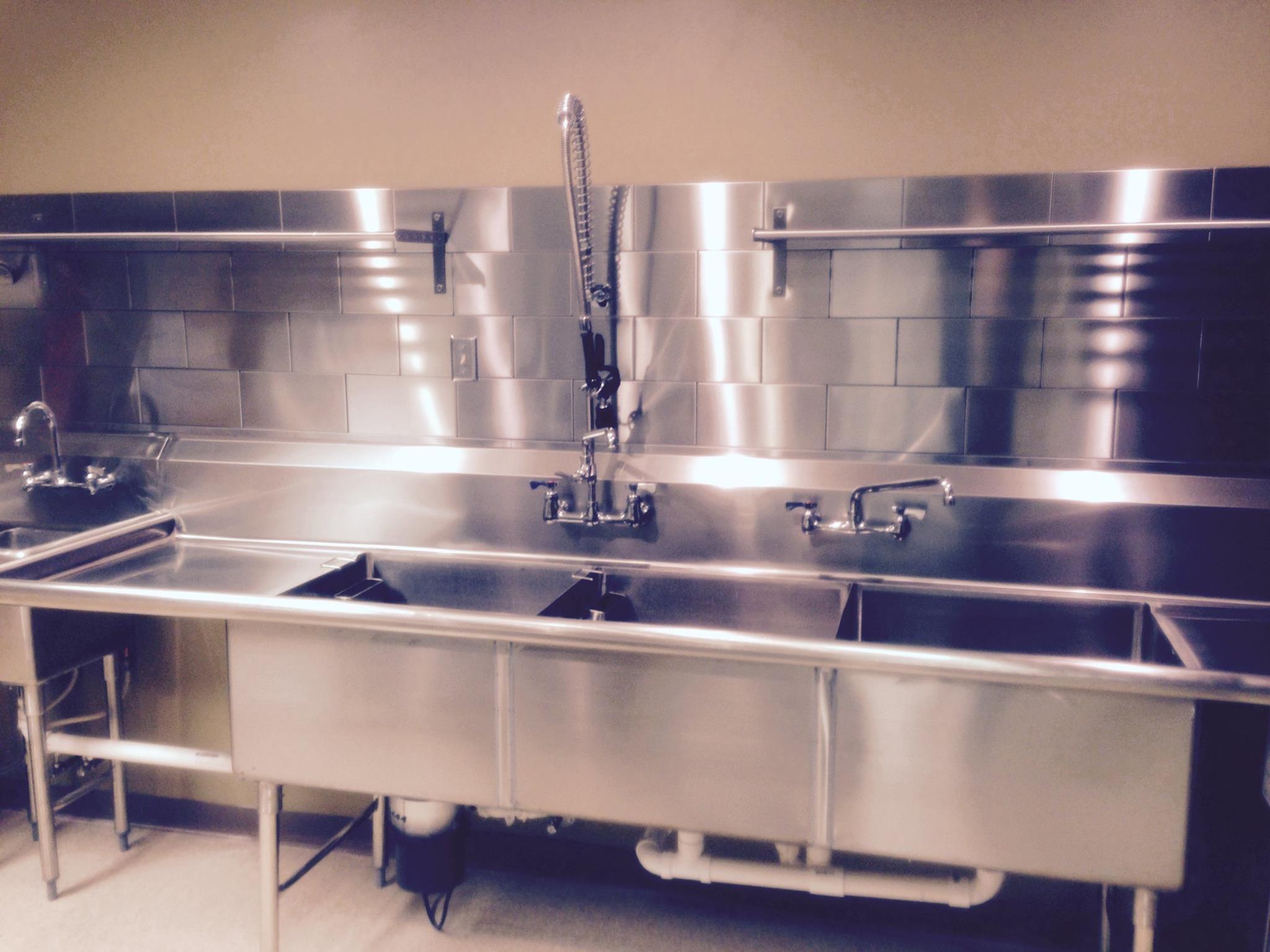 Stainless Steel Tile Restaurant Kitchen Design Industrial