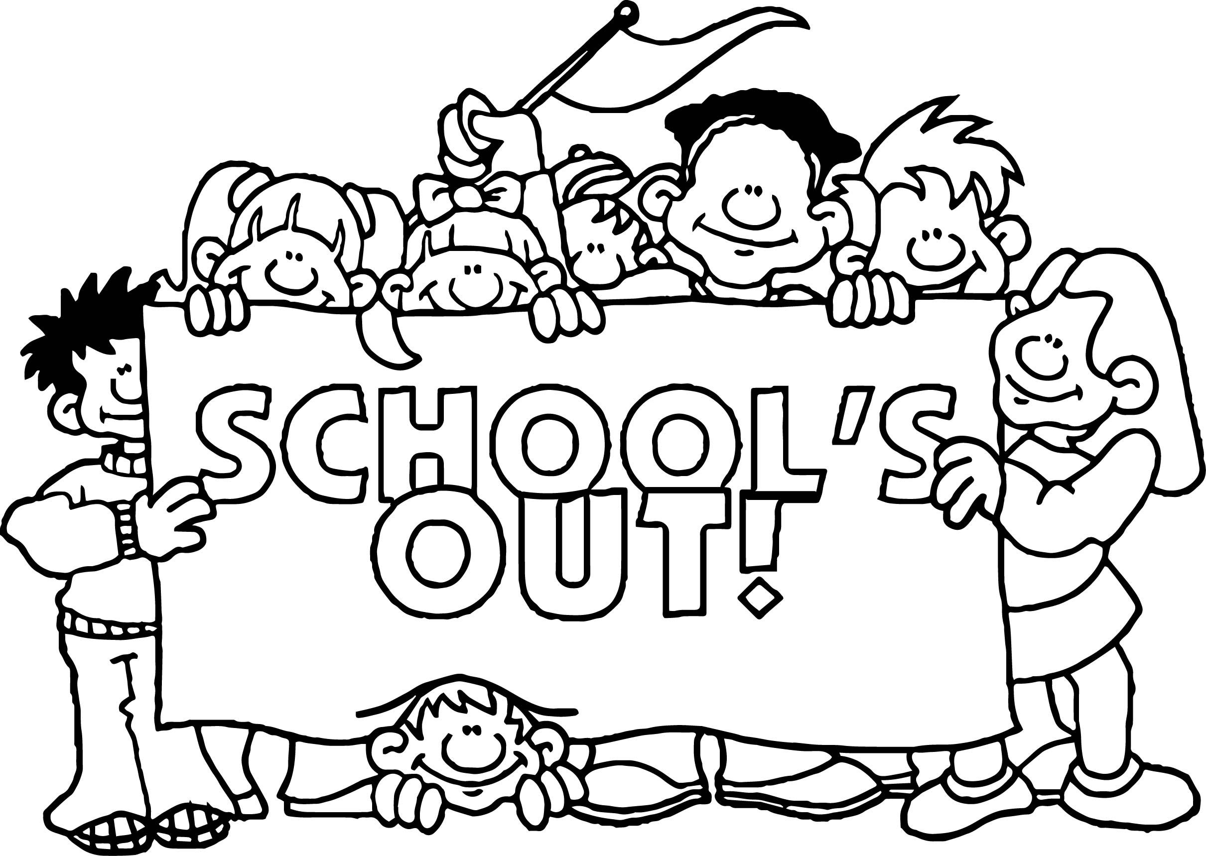 Awesome Summer Schools Out Coloring Page Summer Coloring Pages
