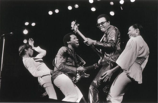 CHIC in 1970s: Luci Martin,  Nile Rodgers, Bernard Edwards, Alfa Anderson