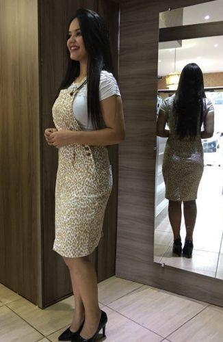 ceef06226 Floratta Modas - Moda Evangélica - A Loja da Mulher Virtuosa Modelo De  Jardineira