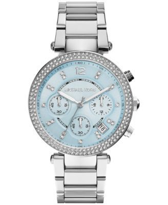 bfe537e774f7 Michael Kors Women s Chronograph Parker Stainless Steel Bracelet Watch 39mm  MK6104 - A Macy s Exclusive