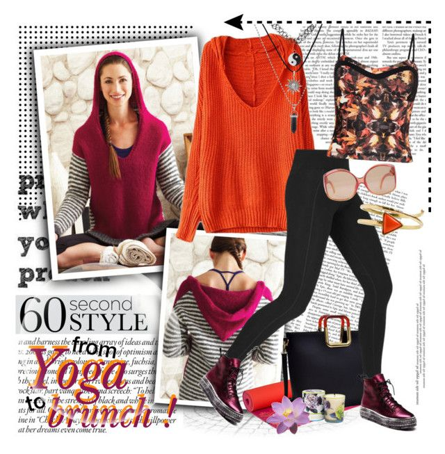 """""""60 Second Style: Yoga Pants"""" by gorgeautiful ❤ liked on Polyvore featuring prAna, Dasein, Lorna Jane, Pepper & Mayne, Christian Dior, From St Xavier, KING and 60secondstyle"""