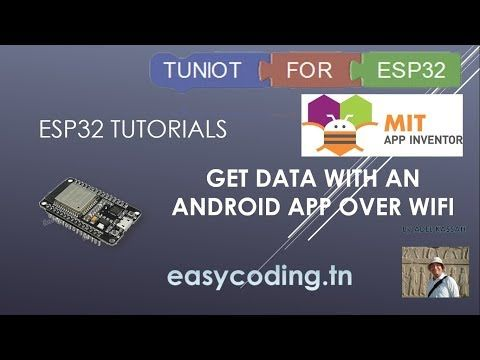 ESP32 tutorial 17 Get data with an Android App over Wifi