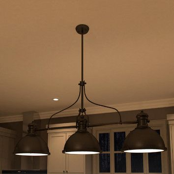 Youll love the dorado 3 light kitchen island pendant at wayfair great deals