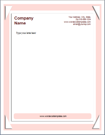 Letterhead Template At WordDocumentsCom  Microsoft Templates