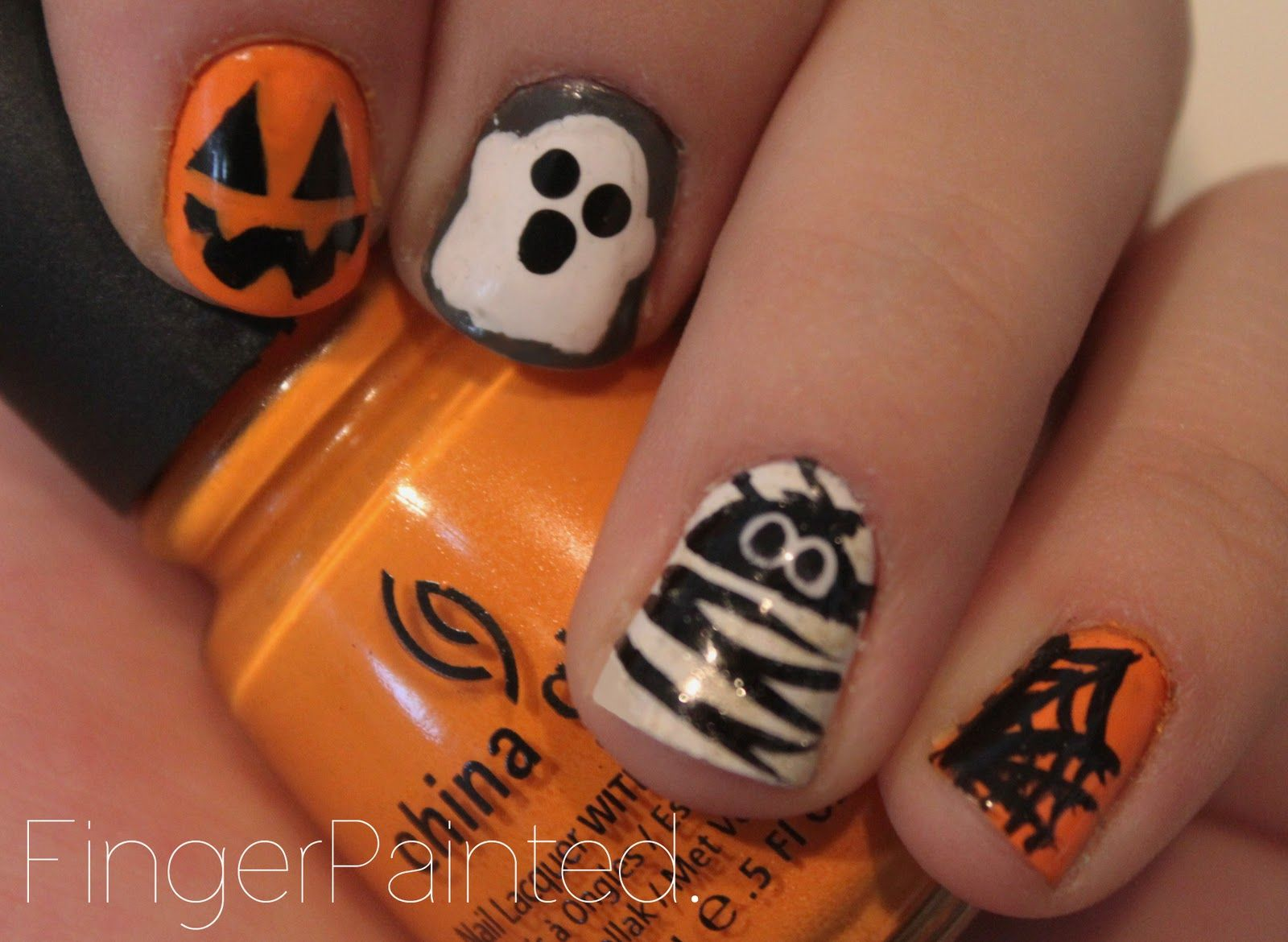 halloween nail designs | Finger Painted: The One With Halloween ...