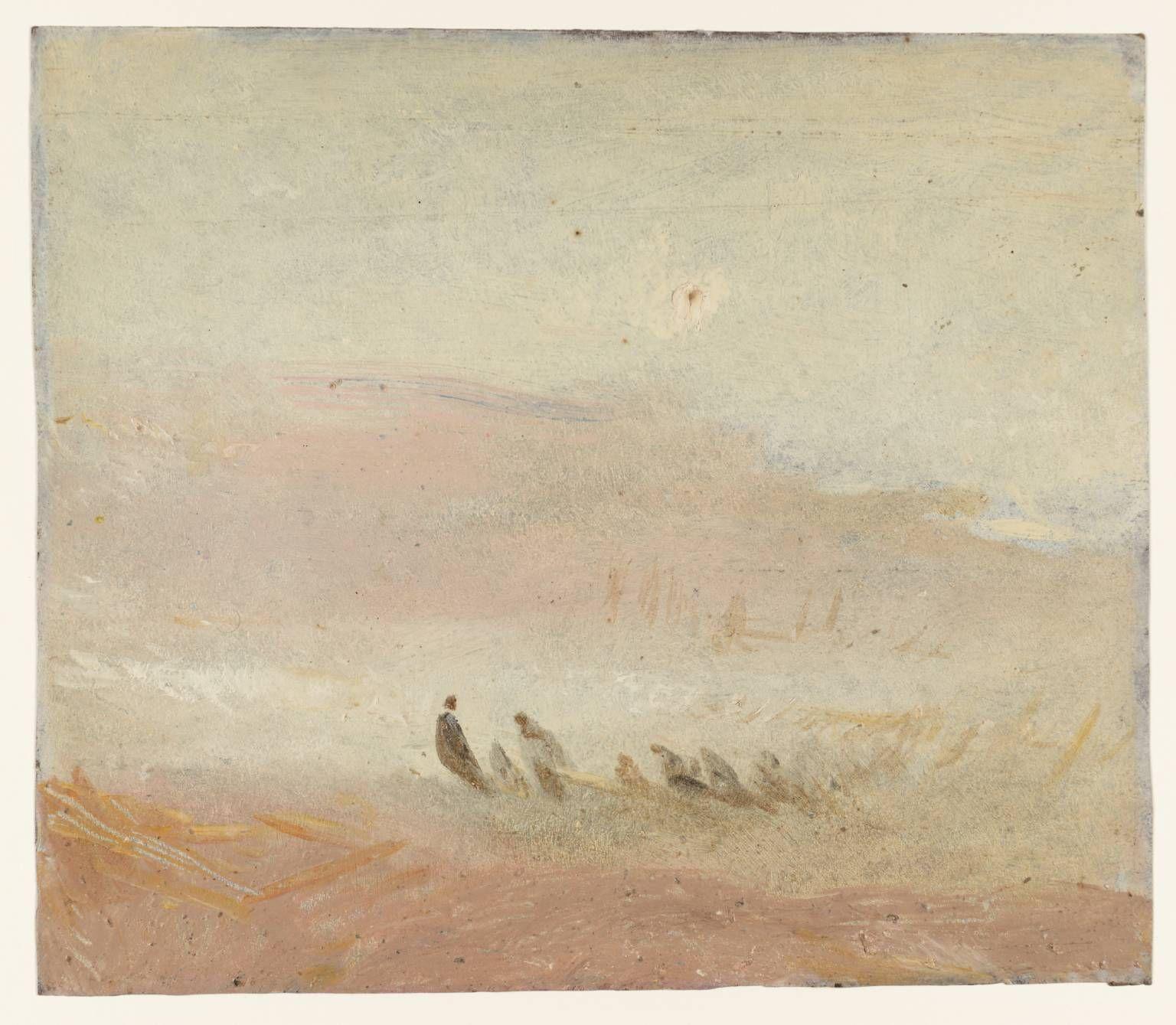 Joseph Mallord William Turner, 'Figures on a Beach' c.1840–5