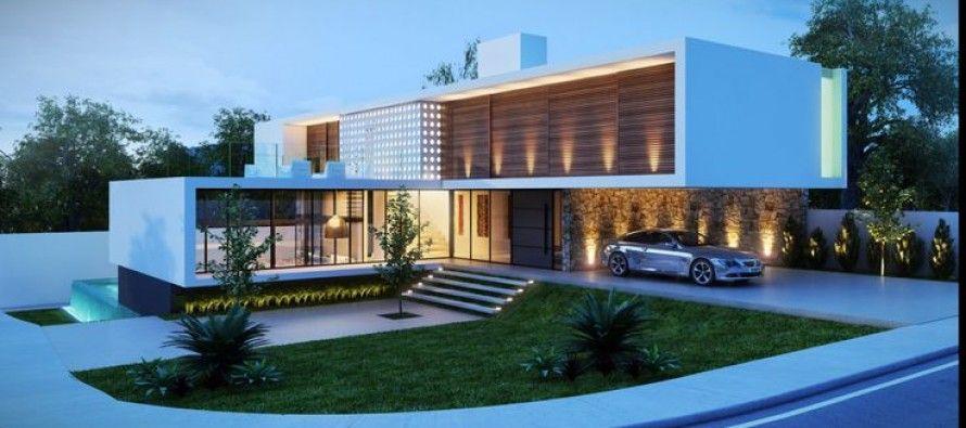 Fantasticas ideas para fachadas de casas fachada de for Casas modernas futuristas