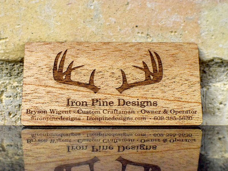 Some rustic looking wood business cards. Perfect for their business ...