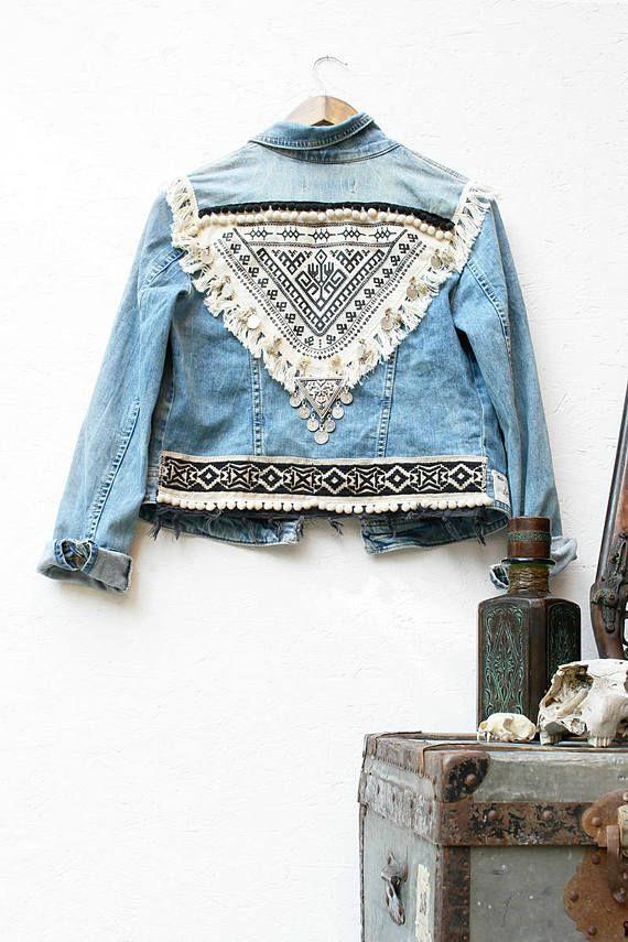 Blouson jean femme vintage