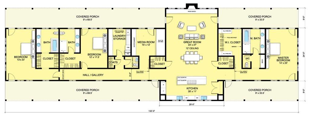 planos de casas modernas una planta