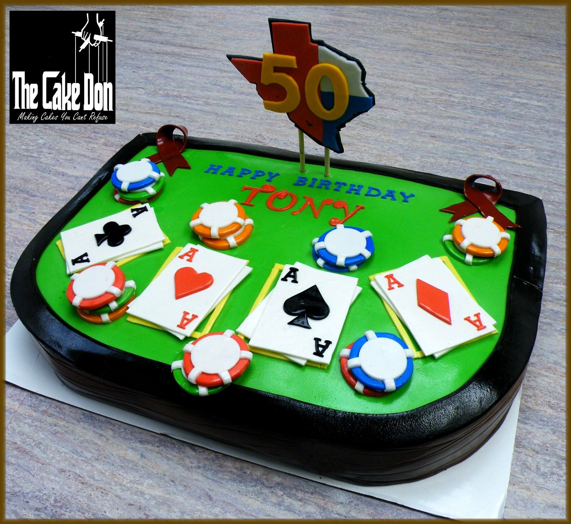 The TEXAS HOLD'EM 50th Birthday Cake. By THE CAKE DON