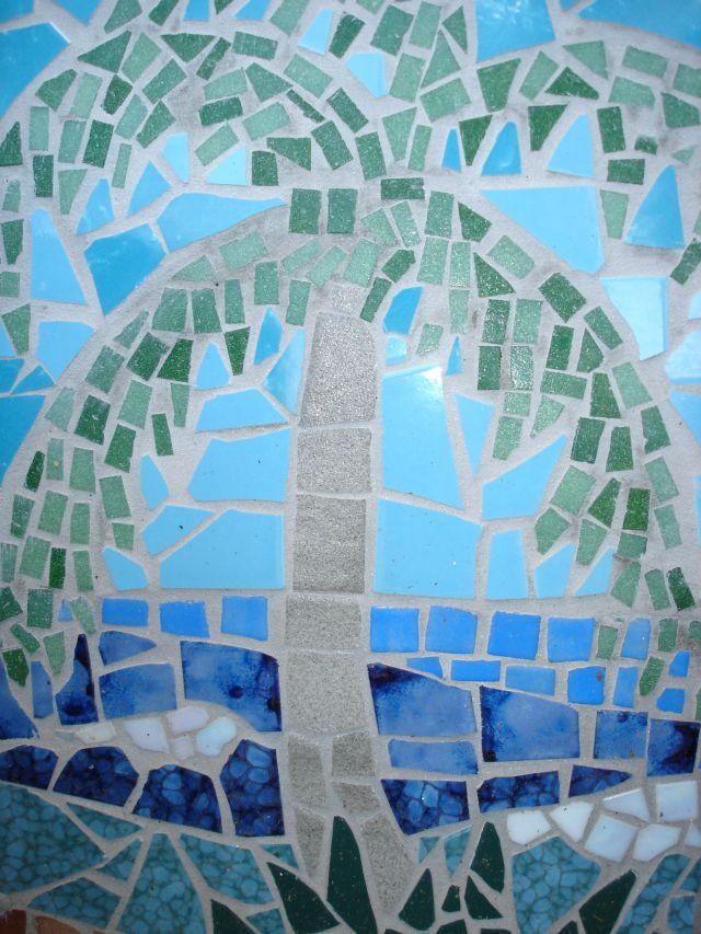Mosaic Palm Tree Mosaics Mosaic Art Mosaic Mosaic