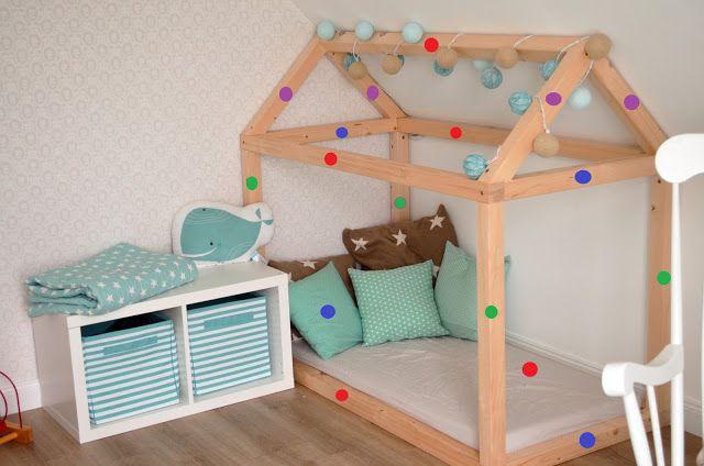 Kinderbett selber bauen detaillierte bauanleitung kuschelhaus kinderzimmer ideen kinder - Kinderbett selber bauen ideen ...