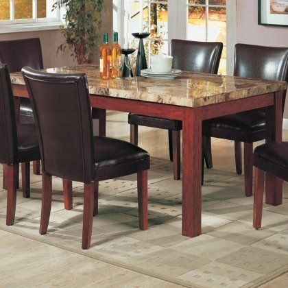 120311set5 Telegraph 5 Pc Dining Set Table 4 Chairs By By Coaster Home Furnishings 759 05 This E Rectangle Dining Table Granite Dining Table Marble Dining