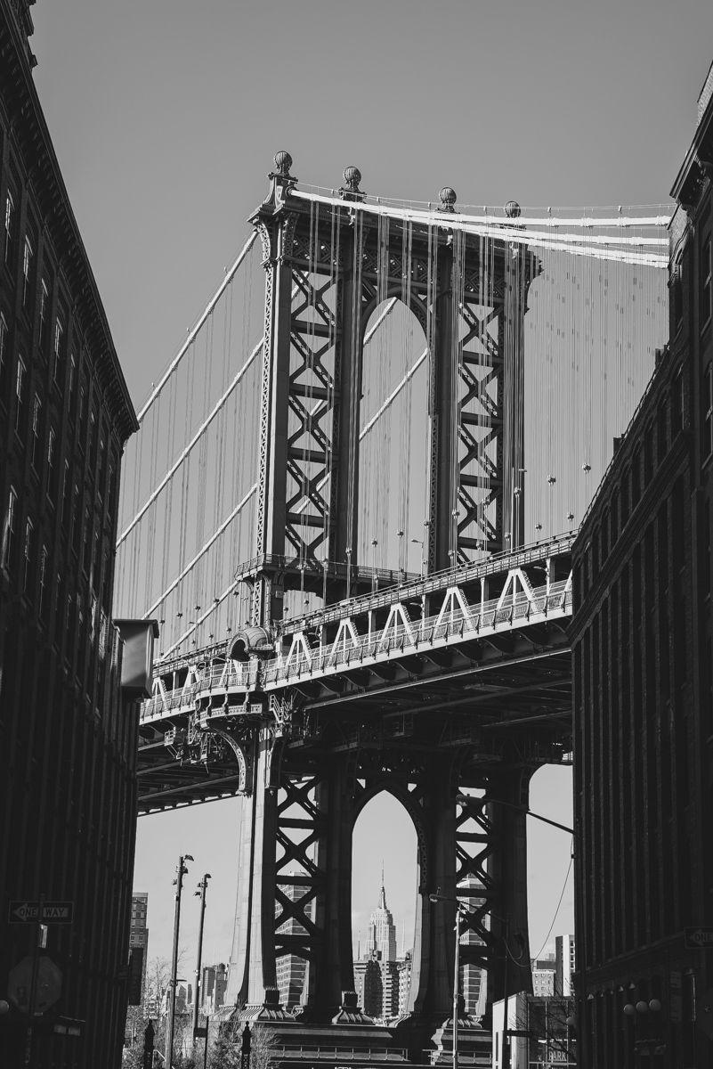 Manhattan Bridge Black and White