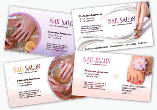 Nail Salon Template Photoshop Psd Kartu Nama Unik Menarik Cantik Kartu Nama Kartu Template