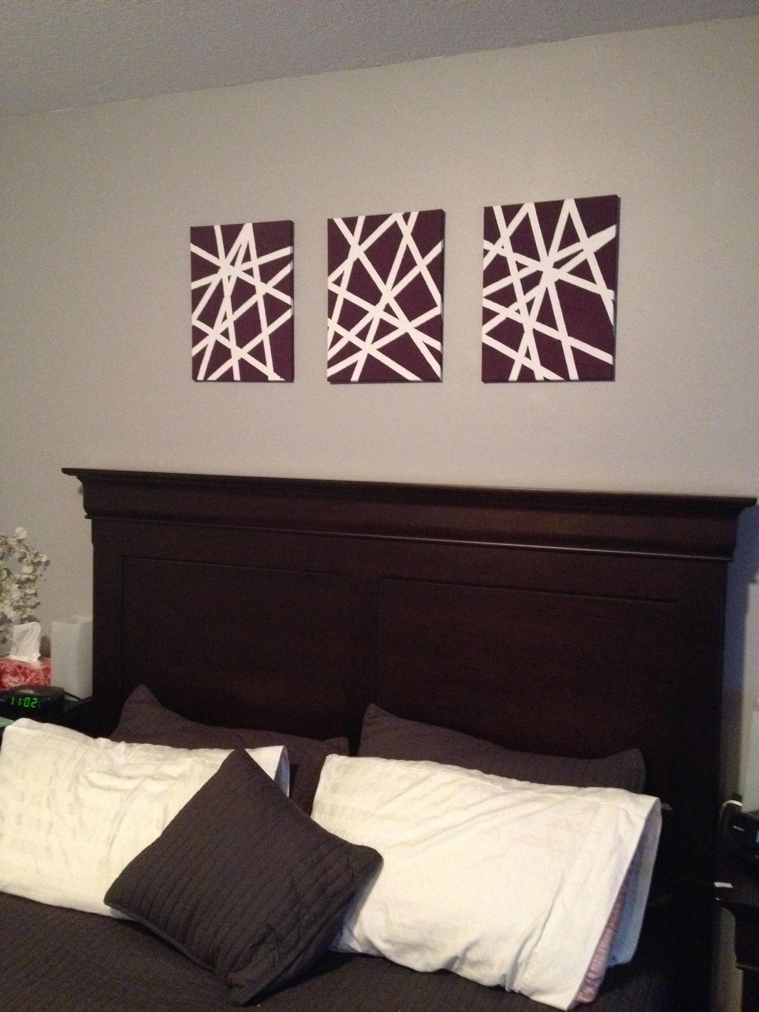 Canvas art all you need is three canvases dollar store