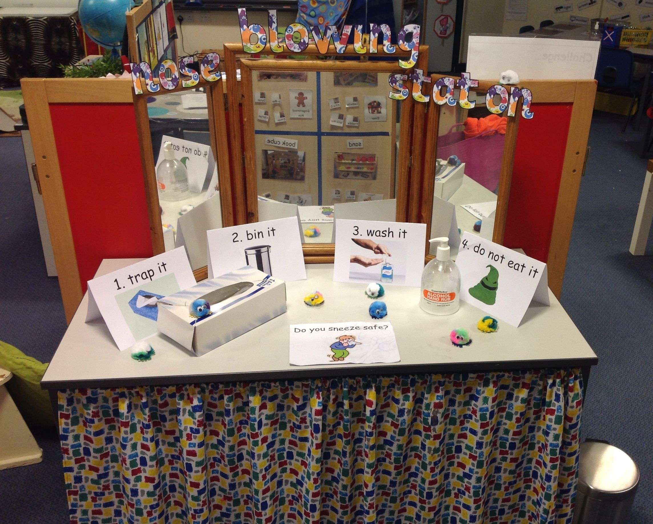 Healthy And Self Care Eyfs Nose Blowing Station Hygiene
