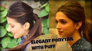 Elegant Ponytail Hairstyle With Full Puff For College, Work, Party / Deepika Padukone easy and quick hairstyle (y) 👌 (y) 👌 Elegant Ponytail Hairstyle With Full Puff For College, Work, Party / Deepika Padukone easy and quick hairstyle (y) 👌 (y) 👌