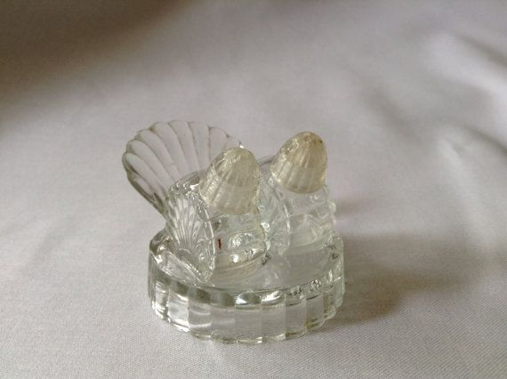 Vintage Glass Salt and Pepper Shakers with by FrancescasFavorites