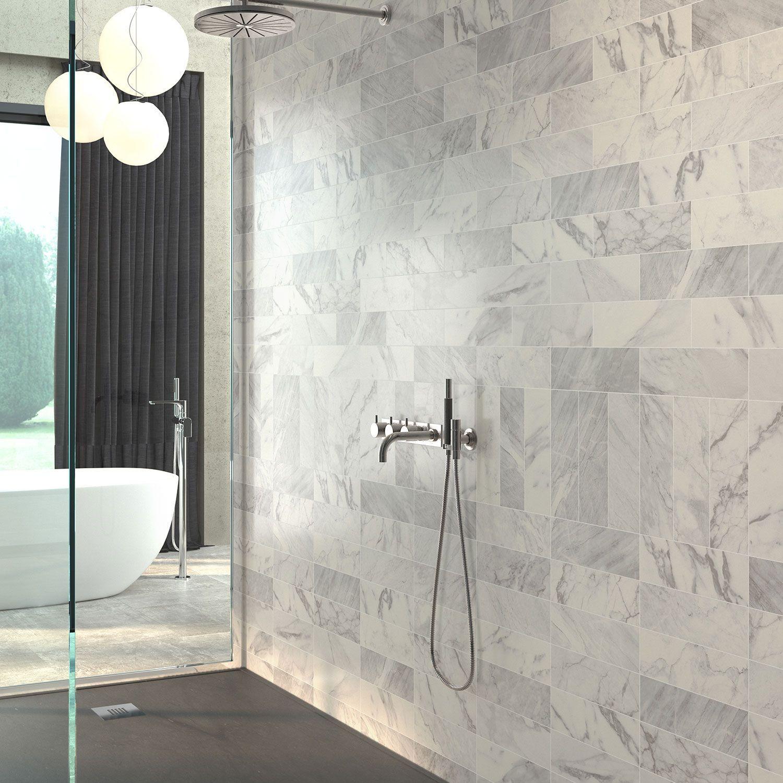 Carrara Matt White Marble Effect Wall Tile 100 X 300mm Wall Tiles Luxury Tile Marble Effect