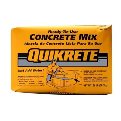 Quikrete Concrete Mix 110180 25kg Ready To Use High Strength