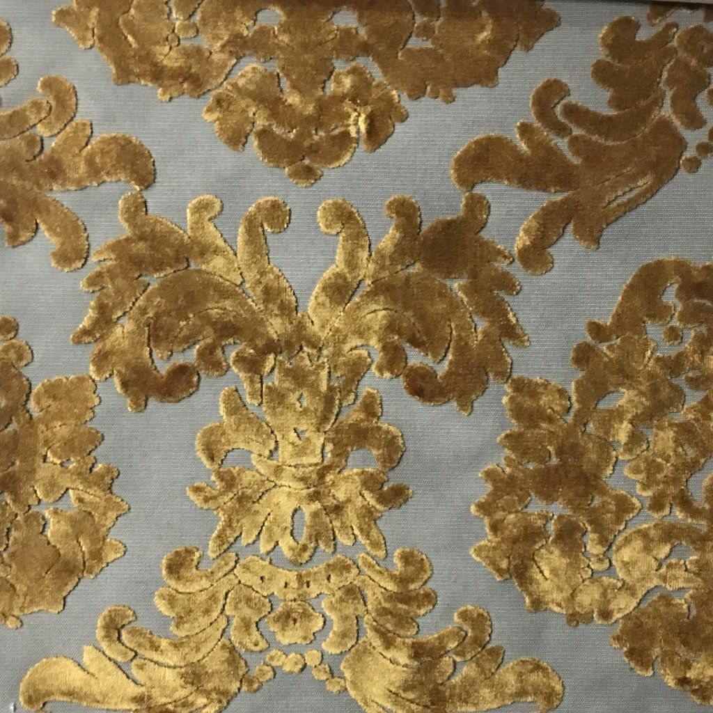Florence Palace - Damask Pattern Burnout Velvet Upholstery Fabric by ...