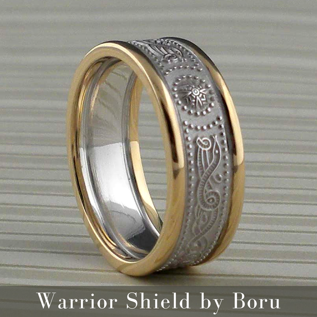 10k Or 14k Celtic Shield Wedding Ring 7 Mm Wide Made In Ireland By Boru: Modern Irish Wedding Rings At Websimilar.org