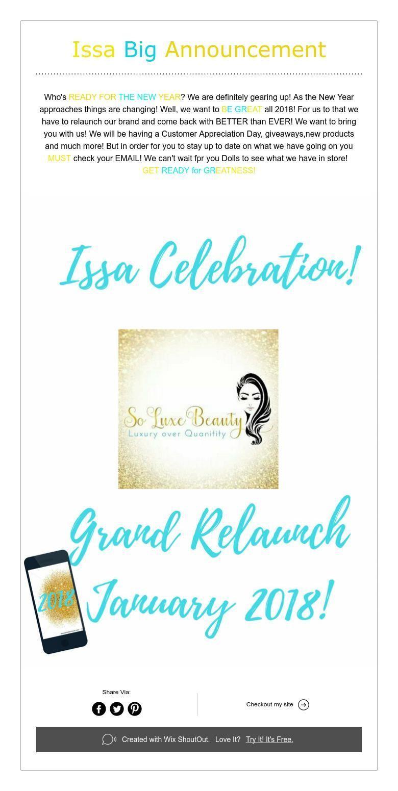 Issa big announcement